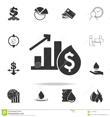 Growth Chart Stencil Designs Dollar Growth Chart Icon Detailed Set Of Finance Banking
