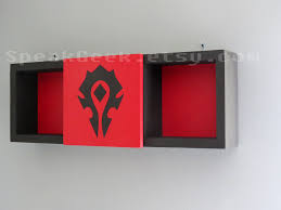 world of warcraft the horde shadow box shelf home decor