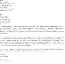 Sample Cover Letter For Nursing Sample Nursing Student Resume Sample
