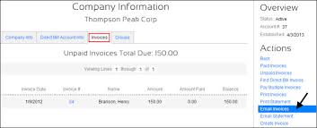 Statement Of Invoices E Mail Direct Bill Invoices Statements