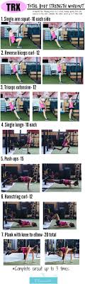 Total Body Gym Workout Chart Total Body Trx Circuit From Fitnessista