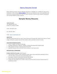 Nanny Resume Template New Nanny Resume Examples Unique Babysitting