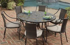 large round patio table set and chairs cover wicker chair plastic rh thetruthyoualwaysknew com classic accessories ravenna large round patio table and chair