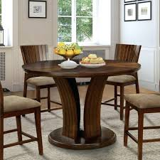 dark oak round dining table furniture of flared pedestal dark oak round counter height dining table
