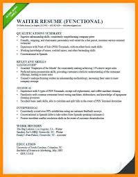 Waitress Skills For Resume Waitress Skills For Resume Exam Good Waitress Resume Professional