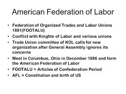 Image result for the Federation of Organized Trades and Labor Unions