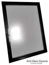 anti glare styrene plastic glass from framesbypost com