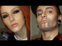 woman to a man makeup transformation tutorial female male make up