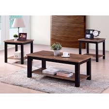 verona 3 piece table set coffee table 2 end tables