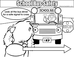 Small Picture Coloring School Bus Safety