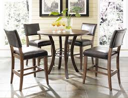 hilale cameron 5pc round counter height dining set w parson with cute kitchen tips