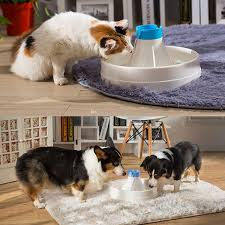 automatic electric 3l 360 degree pet water fountain dog cat drinking bowl with quite pump feature pet fountain cat fountain automatic pet fountain