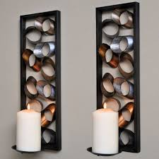 charming decorative wall sconces big candle lights on with wall stick
