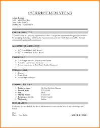 6 How To Write A Simple Cv