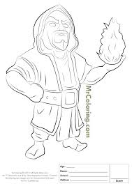 Free Printable Clash Of Clans Wizard Coloring Pages 1 Mariela