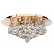 searchlight lighting 3404 4go hanna 4 light crystal ceiling light in gold