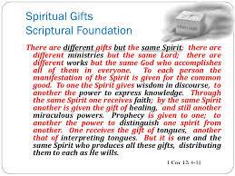 spiritual gifts scriptural foundation