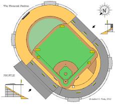 Buffalo Bisons Field Seating Chart Clems Baseball War Memorial Stadium