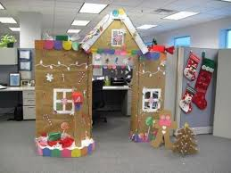 holiday decorations for the office. Candy House Decorated Cubicles Holiday Decorations For The Office E