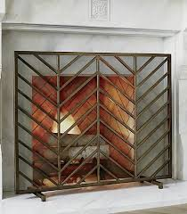 mid century modern fireplace screen. Design Flashback Best Mid Century Modern Decor Crate And Barrel Good Looking Chevron Fireplace Screen Architecture . N