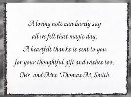 Wedding Thank You Samples Sample Wedding Thank You Card Ideas Google Search 3may 18th