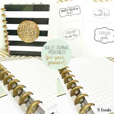 bullet journal printables for your planner by u create