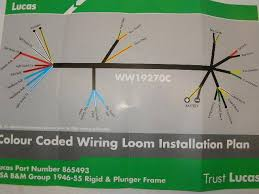 lucas wiring harness bsa m20 21 and b31 33 1946 1955 de groot bsa home electrical section wiring harnesses lucas wiring harness bsa m20 21 and b31 33 1946 1955