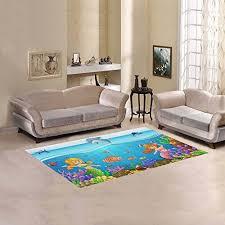 jc dress area rug mermaid under the sea modern carpet 5 x3 3 9h1wx58m1