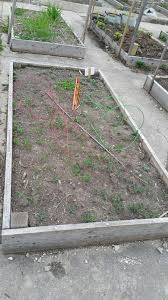a typical garden plot at one of peterson garden project s community gardens