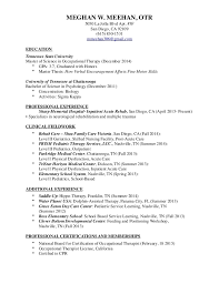 occupational therapy resume marvellous inspiration ideas   occupational therapy resume 18 education tennessee state university master of science in 2014 gpa
