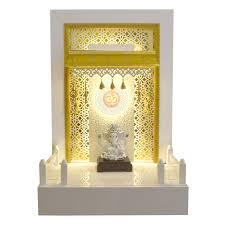 corian mandir 3 ft height with luminous