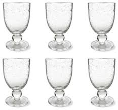 tag bubble glass goblet set of 6