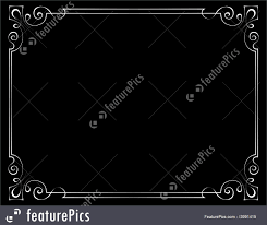vintage black frame. Vector Vintage Frame On A Black Background Royalty-Free Stock Illustration Vintage Black Frame
