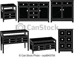 dresser clipart black and white. vector - dressers collection dresser clipart black and white