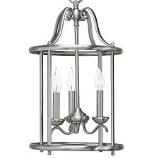 Brushed Nickel Pendant Lighting Kitchen Possible Stairway Or Foyer 9900 Sale Shop Kichler Lighting