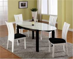 beautifull white dining room chairs black and white dining room table set 1