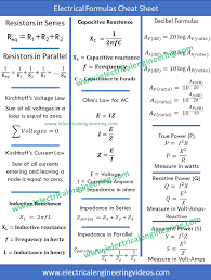 electrical engineering cheat sheet