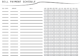 Bill Payment Schedule Printable Bill Payment Checklist Etsy