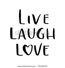 Live Laugh Love Quotes Custom Live Laugh Love Hand Lettered Quote Stock Vector Royalty Free
