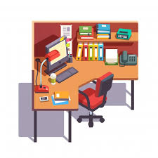 download office desk cubicles design. Brilliant Office Office Cubicle Working Desk With Desktop Computer Free Vector And Download Desk Cubicles Design I