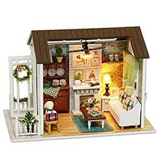 dollhouse miniature furniture. Beautiful Dollhouse Cuteroom Dollhouse Miniature DIY Dolls House Kit Room With Furniture  Handicraft Xmas Gift Happy Time And