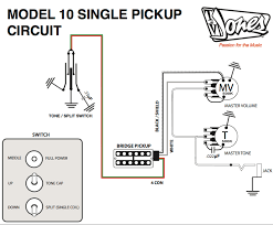 pickup and harness wiring schematics tv jones Single Pickup Guitar Wiring Diagram model 10 single pickup circuit single pickup electric guitar wiring diagram