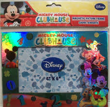 picture frames by disney 1 x mickey mouse clubhouse magnetic picture frame 4x6