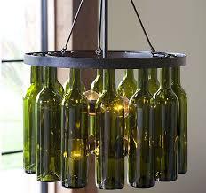 pottery barn wine bottle chandelier