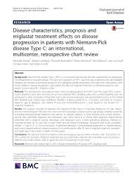 Pdf Disease Characteristics Prognosis And Miglustat