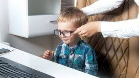 cute childs office chair. Portrait Of Cute Toddler Boy Sitting In Office Chair And Wearing Eyeglasses Royalty Free Stock Photography Childs S