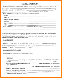 House Rental Lease Agreement House Rental Lease Agreement Form With