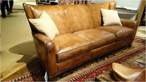 saddle leather couch colored sectional soap sofa brown