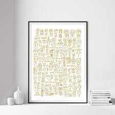 HOOD I White & Gold Print by Raul 33 – By Anna Paganelli