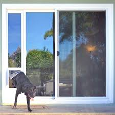 door with pet door the ideal fast fit dog door for sliding glass door is a